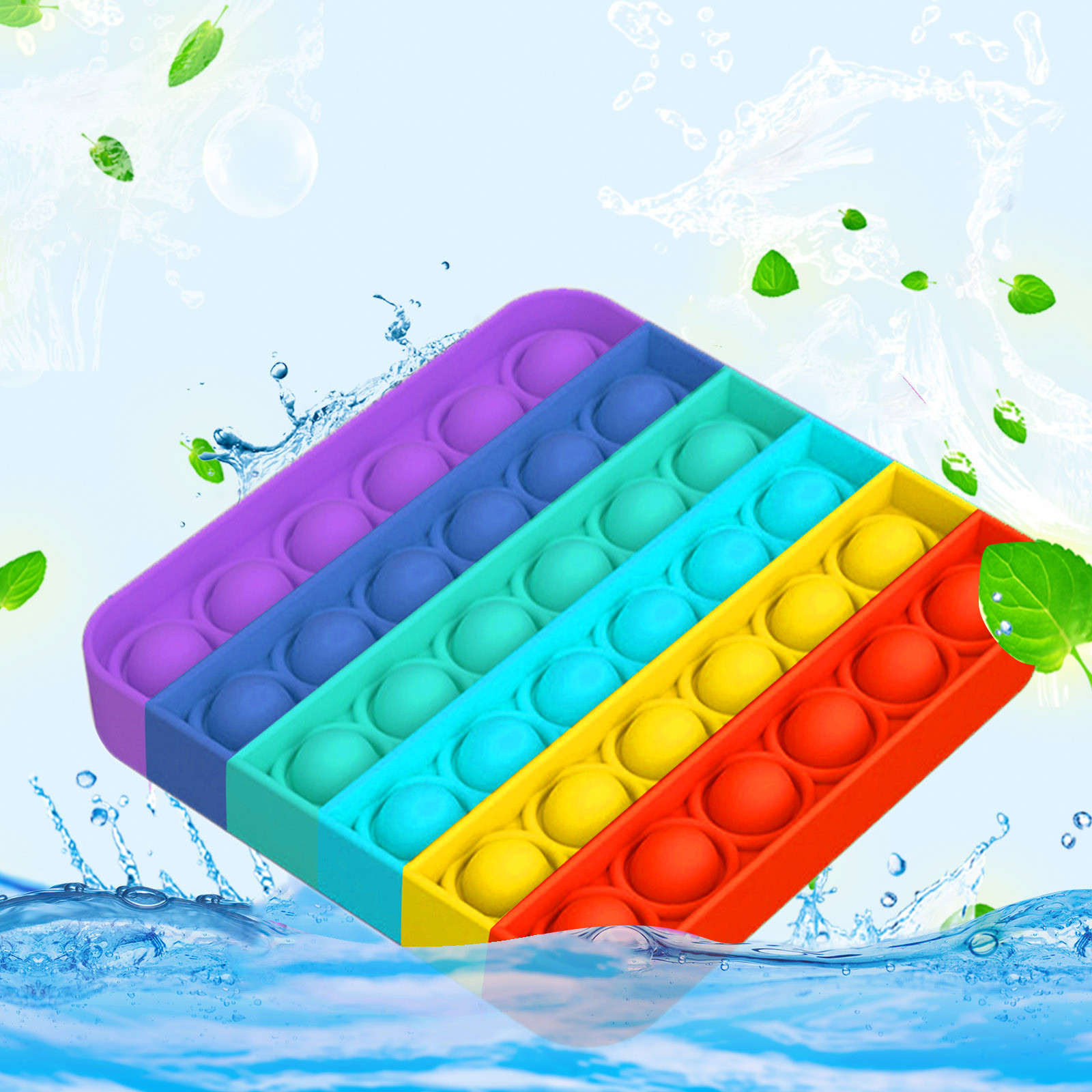 Fidget-Sensory-Toy Game-Stress Bubble Pops Squishy-Pops Rainbow-Push Relief Special Needs img5