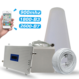 Image 1 - 2G 3G 4G Tri Band Booster GSM 900MHz+DCS/LTE 1800(B3)+FDD LTE 2600(Band 7) Cellphone Signal Repeater Cellular Amplifier Full Set