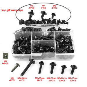 Image 5 - オートバイフルフェアリングボルトキットネジヤマハ FZ1 FZ6 FZ8 MT01 MT 125 MT07 MT 07 FZ 07 MT09 FZ 09 MT10 MT15 XJR400 XJR1300
