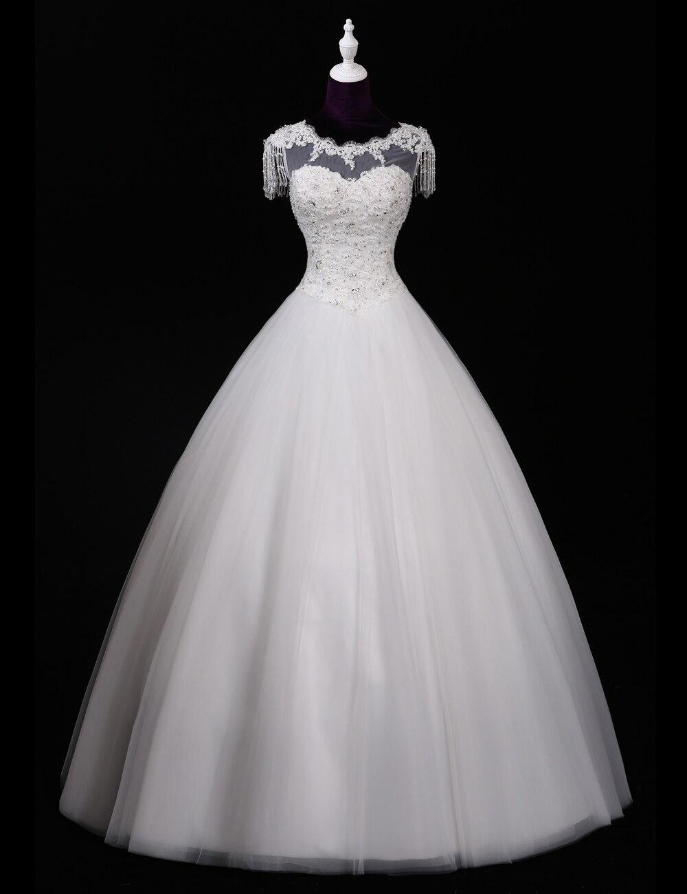 Vestido De Noiva Princesa Vintage White Lace Wedding Dress 2016 Ball Gown Wedding Dresses China Plus Size Bridal Gowns Casamento