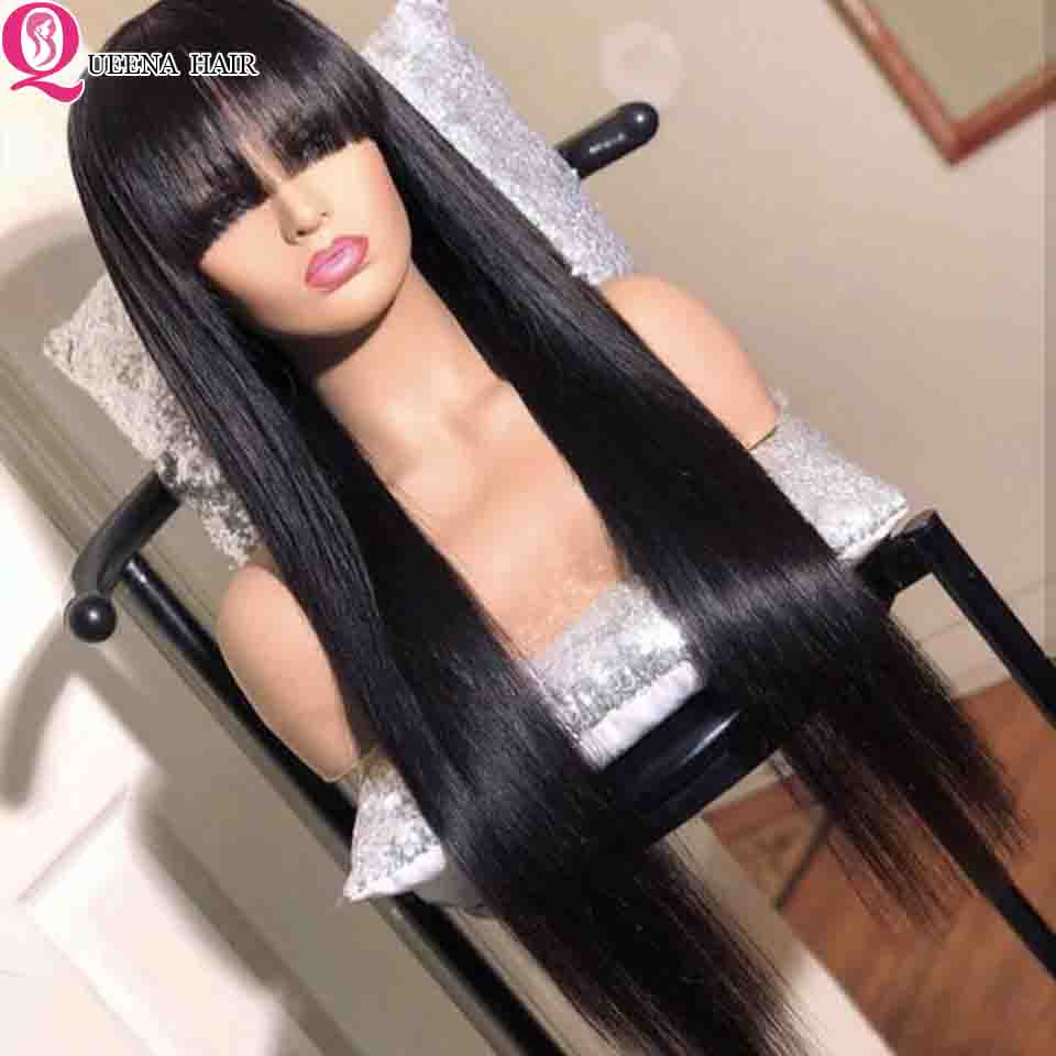 360-Lace-Frontal-Wig-With-Bang-Straight-Human-Hair-Wigs-With-Bangs-4x4-Lace-Closure-Wig