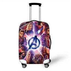 Iron man Travel pokrowiec ochronny na walizkę walizka akcesoria podróżne elastyczny bagaż osłona przeciwpyłowa zastosuj do walizki 18 ''-32''