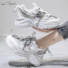 2020 New Fashion Women Platform Sneakers PU Leather Breathable Women