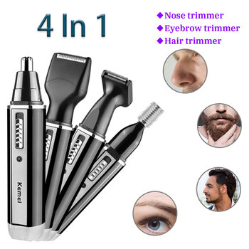 Kemei KM - 6630 4 In 1 Rechargeable Hair Beard Eyebrow Ear Nose Shaver Personal Care  Clipper Shaver Trimmer Electric Kits multifunction 4 in 1 electric ear nose trimmer rechargeable portable hair clipper shaver beard eyebrow trimmer