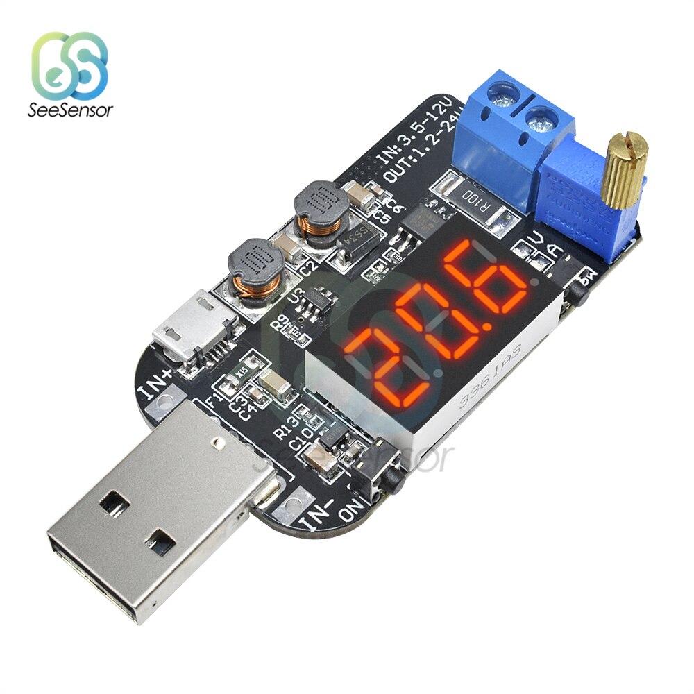Adjustable 5 В до 1 24 В Регулируемый понижающий модуль питания светодиодный цифровой дисплей повышающий понижающий стабилизатор напряжения конвертер|Инверторы и конвертеры|   | АлиЭкспресс
