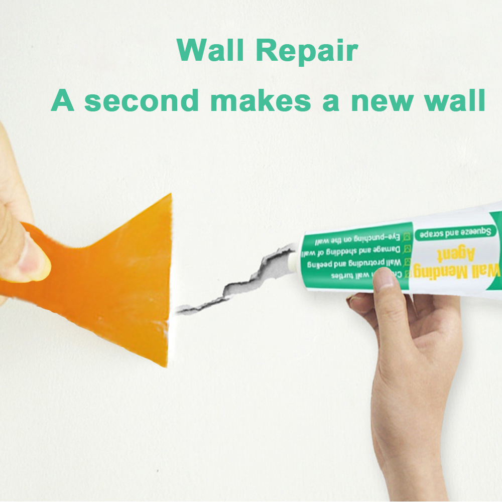 250g Wall Mending Agent Wall Repair Cream Latex Paint Waterproof Gypsum Wall Paint Valid Mouldproof Quick-Drying Patch Restore 3