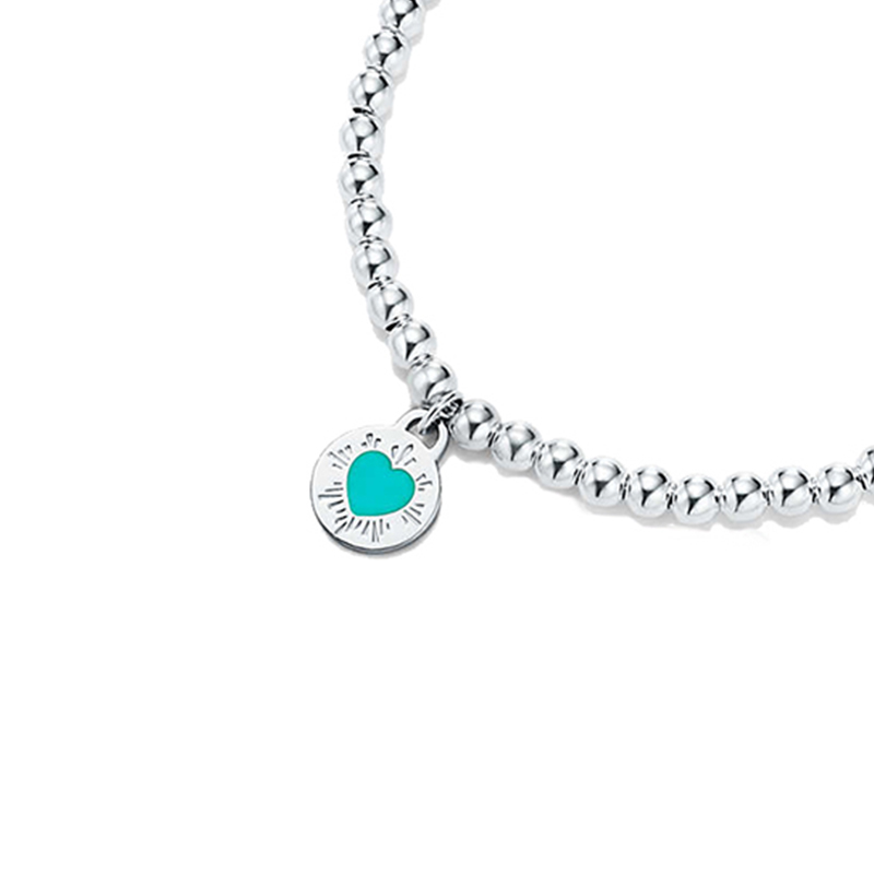 Bulgaria blue round bead bracelet original 100 925 sterling silver women 39 s jewelry fashion high end free shipping has logo in Chain amp Link Bracelets from Jewelry amp Accessories