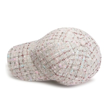 Men Women Wool Blend Hat For Winter Plaid Retro Snapback Caps Outdoor Sports Warm Thickened Baseball Cap Hats
