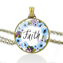 Bible Verse Quote Necklace Copper Chain Pendant Necklace Faith Jewelry Vintage Christian Accessories new fashion pray without ceasing bible verse christian necklace cabochon pendant inspirational jewelry women men faith gifts