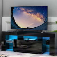 LED TV Bench Home TV Storage Cabinet Living Room Decoration Entertainment 20 Colors RGB LED light Locker TV Stand Furniture