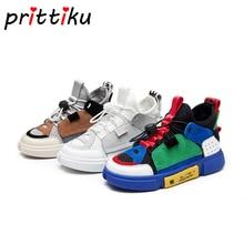 Zapatillas de cinta elásticas antideslizantes de malla para niños y niñas, zapatos informales para bebé/niño pequeño/niño grande, zapatos de marca deportiva para escuela, 2020