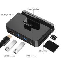 Usb type C Телефон Стенд концентратор док-станция HDMI USB3.0 SD/TF кард-ридер адаптер питания для iPhone SamSung XiaoMi huawei