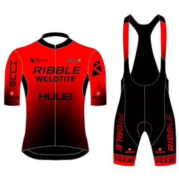 HUUB-ropa de ciclismo profesional para hombre, conjunto de jersey y pantalones cortos...