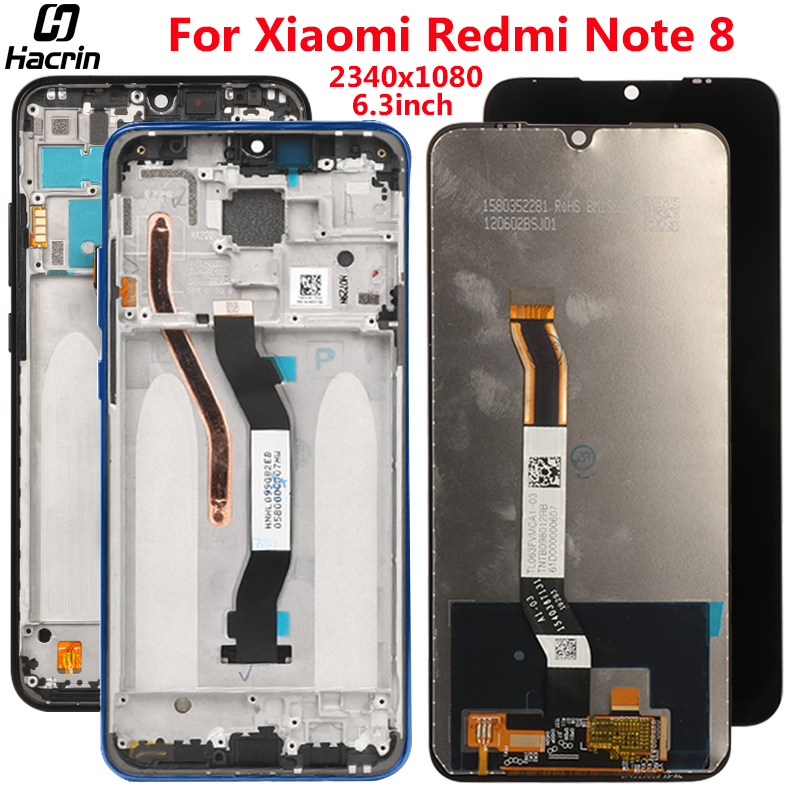 <font><b>Display</b></font> For <font><b>Xiaomi</b></font> <font><b>Redmi</b></font> Note <font><b>8</b></font> LCD <font><b>Display</b></font> Touch Screen With Frame Digitizer Assembly lCD Replacement For <font><b>Redmi</b></font> Note <font><b>8</b></font> Screen image