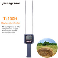 TK100H Hay Moisture Meter with Backlight For Alfalfa Forage Grass Leymus Chinensis Orchard Moisture Measuring Tool 40% off