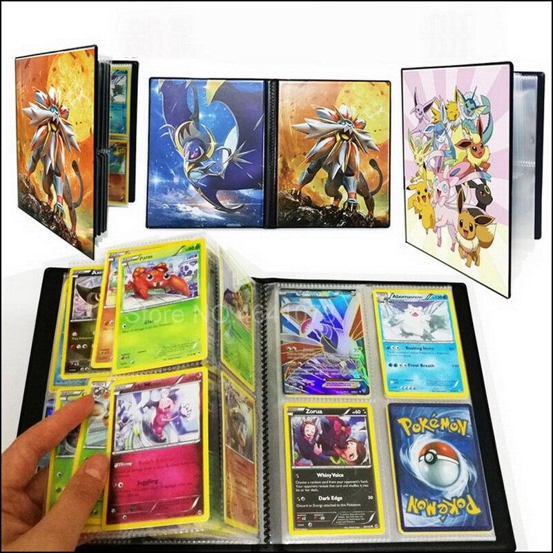 Коллекция 240 шт. держателей 80 шт. карточки Покемоны альбом книга Топ загруженный список игрушки подарок для детей