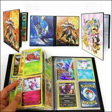 240 pçs titular coleções 80 pces pokemones cartões álbum livro lista carregado superior brinquedos presente para crianças