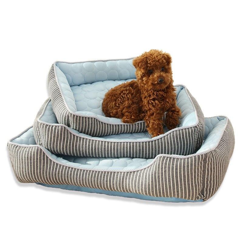 Мягкая кровать для собак, летняя крутая подстилка для питомцев, подстилка для глубокого сна для кошек, товары для собак, аксессуары, Прямая п...