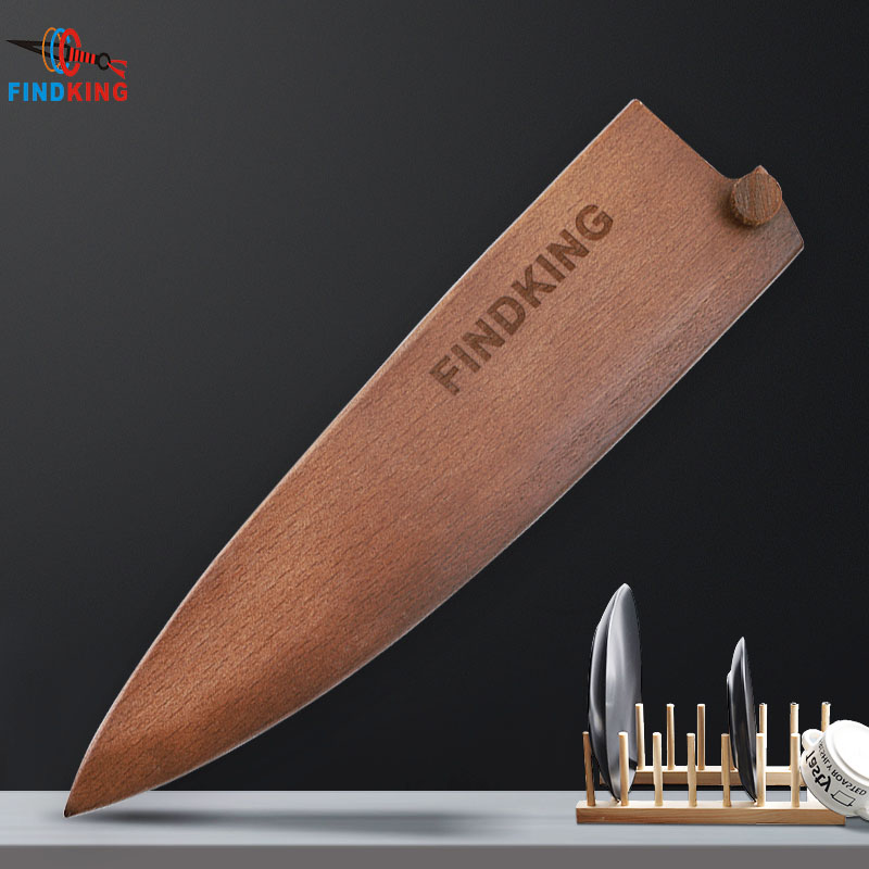 Findking Brand 2018 New Knives Sheaths High Quality Solid Beech Wood Knife Cover For Kitchen Knife Guard Wooden Protectors