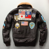 Men's G1 2020 Pilot 100% Genuine Leather Jacket Tom Cruise Top Gun Air Force Multi-label Thick Cowhide Autumn Winter Coats