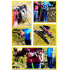 Folding hiking stick cane trekking