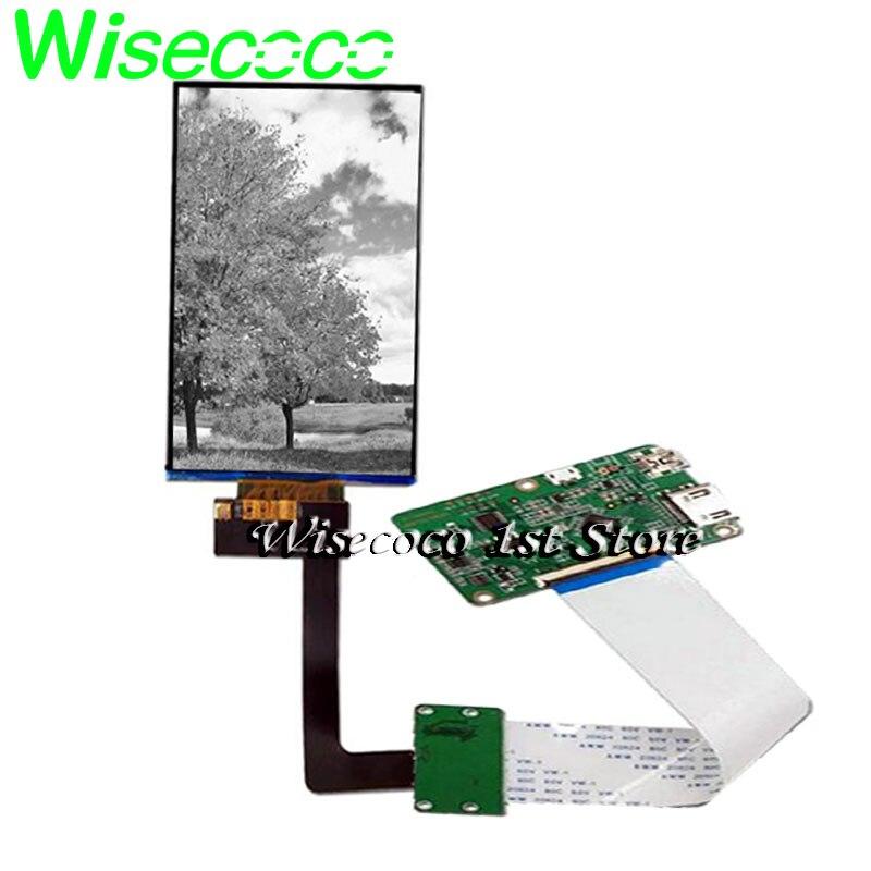 Wisecoco 6 polegada 2k monocromático lcd tft ips lcds 1620*2560 impressora 3d projetor mono display para mipi 50 pinos placa de motorista