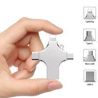 Memoria USB OTG 4 en 1 tipo C, 16GB, 32GB, 64GB, 128GB, 256 GB, para iPhone, Android, PC, 256 GB