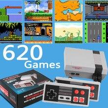 Console de jeux vidéo avec Mini TV, 8 bits, rétro, lecteur avec 620/500 jeux intégrés, cadeau pour enfants ou adultes
