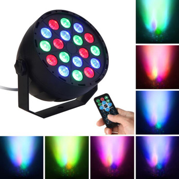 Full Color LED Par Light Remote Control DJ Stage Light LED Beam Laser Projector Stage Lighting Effects Disco Club Party Light tiptop tp e36 professional club dj disco projector stage laser light party green red voice control 20w shaking glass laser beam