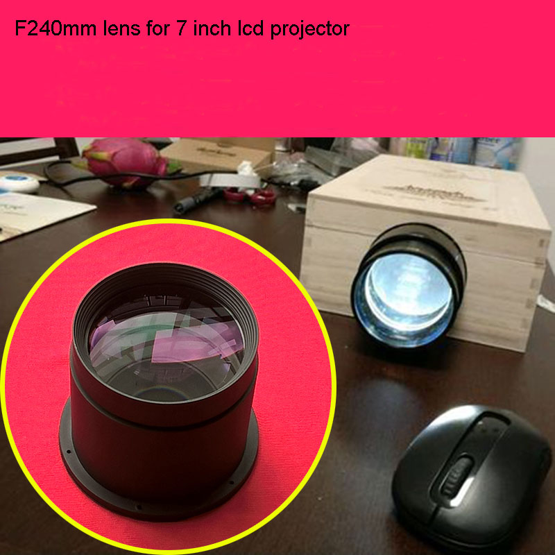 LED Projector DIY Lens F240mm Focal Length Projection Lens Home Cinama Diy Lens For 7 Inch Projector Lcd Free Shipping