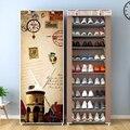 Многоуровневая стойка для обуви из нетканого материала, легко собирается для дома и общежития, компактный органайзер для хранения, полка, п...