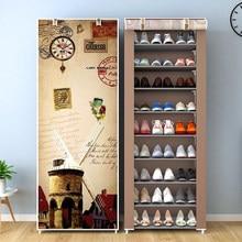 Tecido não tecido sapato rack multicamadas fácil montar casa dormitório espaço-economia de armazenamento organizador prateleira simples móveis sapatos armário