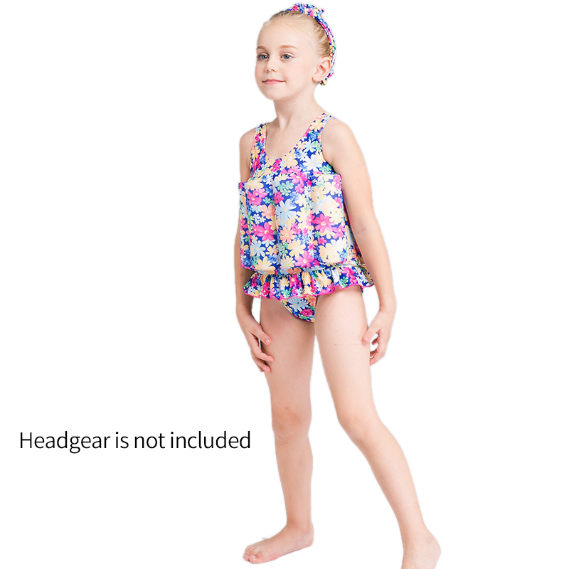 Floating Swimming Suit Detachable Floating Training Bathing Suit Swimsuit Infant Swimwear With Buoyancy Sticks For Girls M