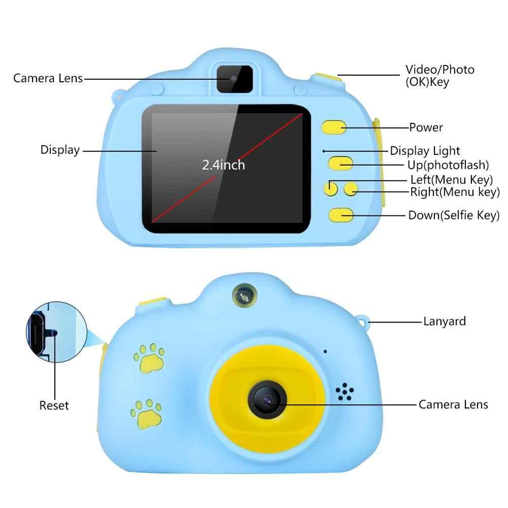 กล้องเด็กของเล่นเด็กดิจิตอลกล้อง 18MP HD 32G 2.4 นิ้วหน้าจอ Dual Selfie วิดีโอเกมกล้องวิดีโอของเล่นเด็ก