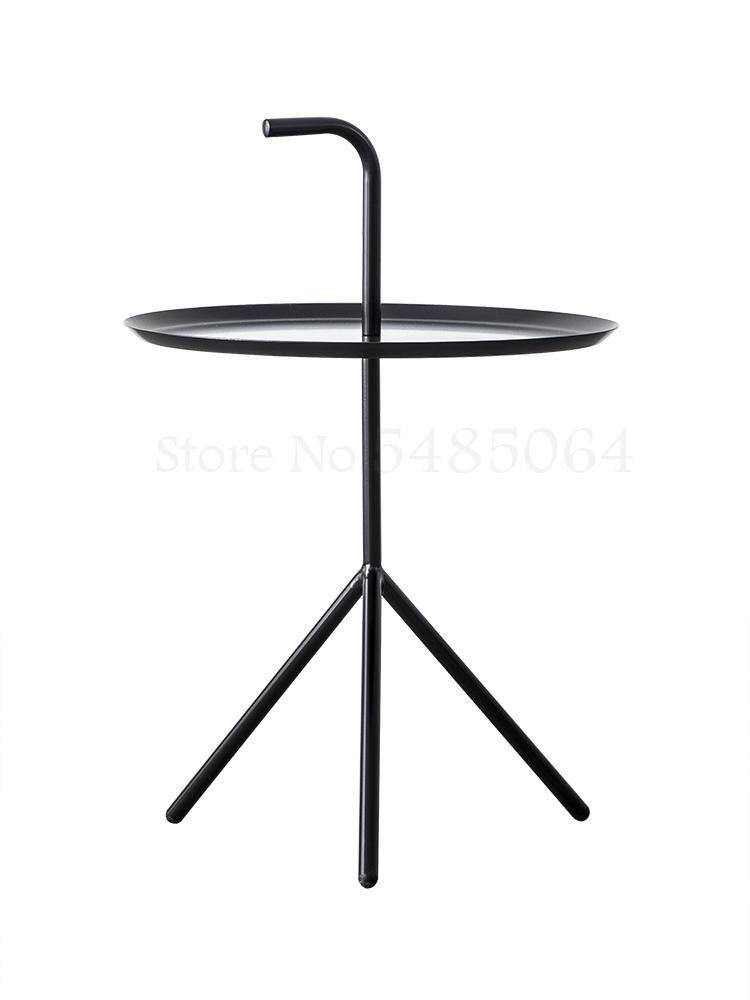 Скандинавский простой прикроватный столик, металлический Железный арт, мини-мобильный угловой столик для дивана, креативный современный п...