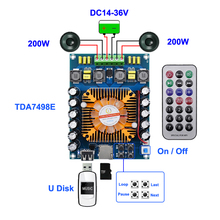 2*200w tda7498e placa amplificadora digital classe d hifi áudio estéreo subwoofer tda7498 home theater amplificadores de alto falante