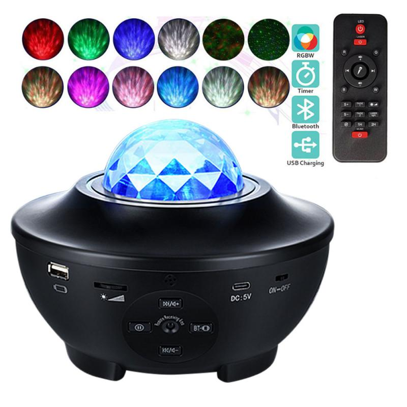 Usb Sterrenhemel Galaxy Watermerk Sfeer Projectie Lamp Bluetooth Audio Afstandsbediening Night Lamp Stage Night Lamp