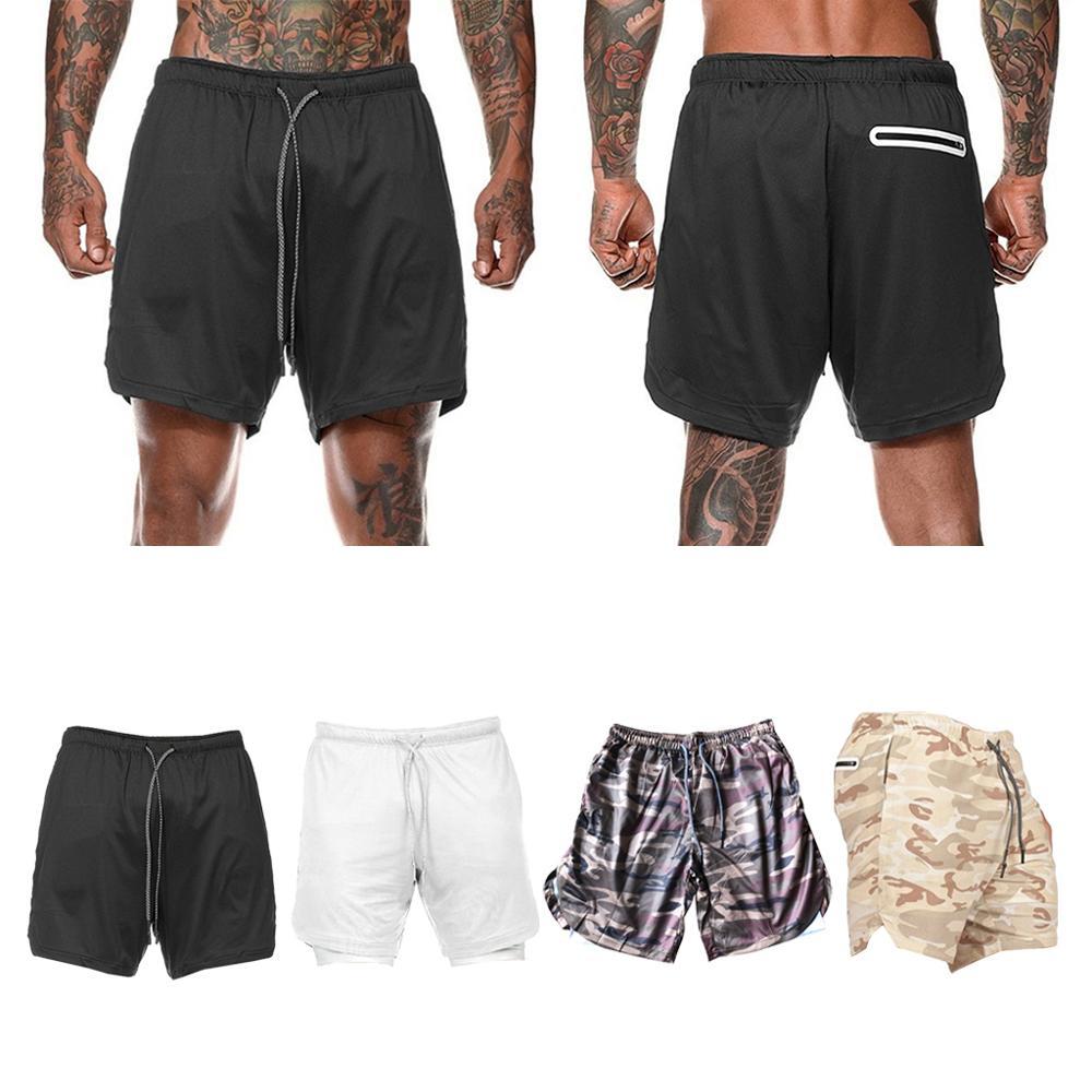 running - Summer Running Shorts Men 2 in 1 Sports Cycling Fitness Shorts Training Quick Dry Mens Gym Shorts Men Sport gym Half Pants 2020