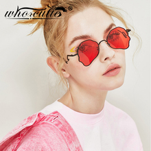 WHO CUTIE Unique Aviation Sunglasses Women Brand Design 2019