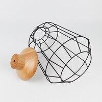 Lampenschirm Holz lampe schatten Ausgewählt Metall Draht Rahmen Decke Lampe Anhänger Licht abdeckungen Restaurant Schlafzimmer Haushalt