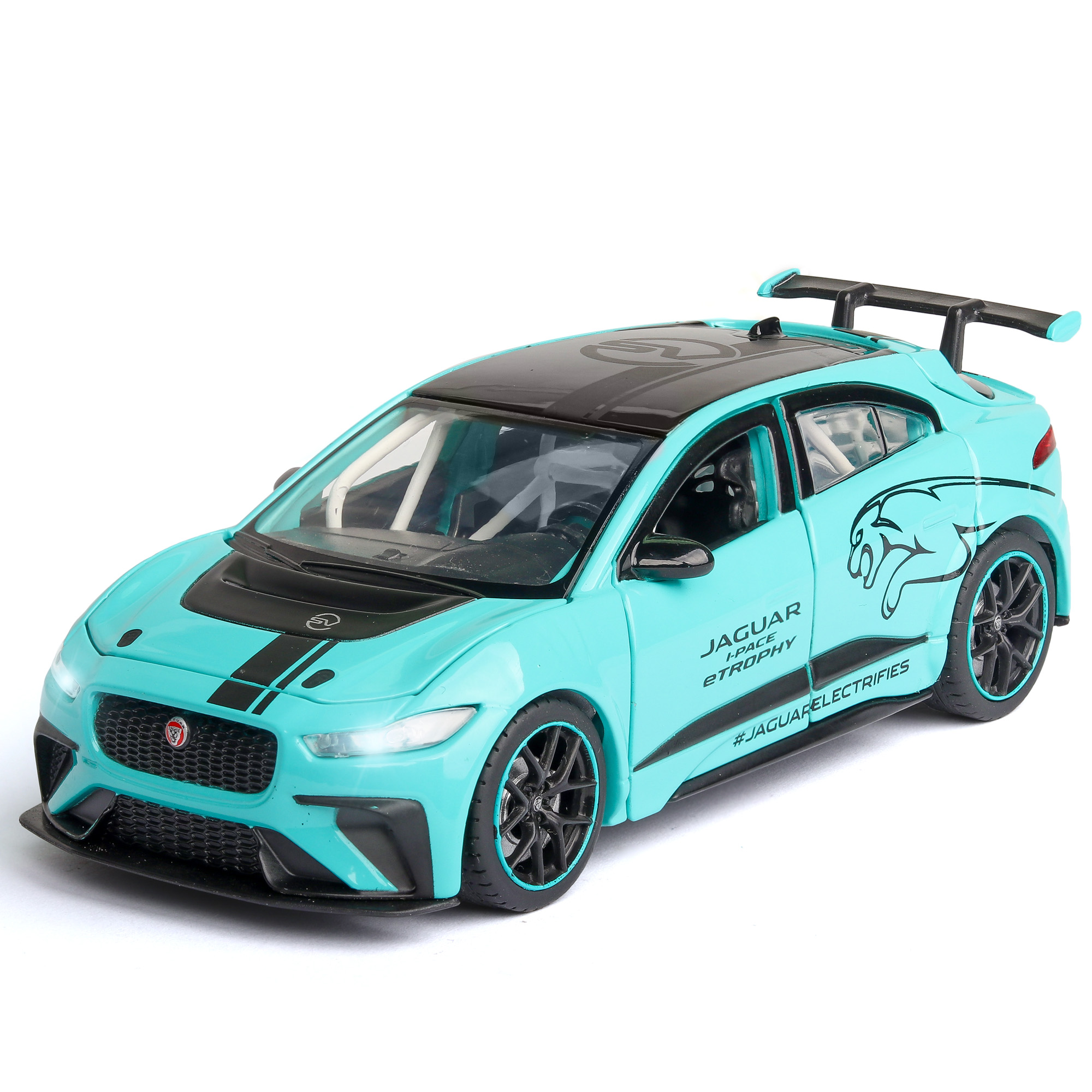 1/32 High Simulation JAGUAR I-PACE Diecast Toy Vehicles Sound And Light Pull Back Alloy Model Car Super Racing Toys For Children