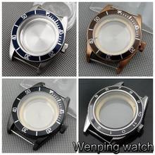 Caja de reloj de acero inoxidable con bisel cerámico de cristal de zafiro Corgeut de 41mm compatible con la serie Miyota 8205/8215/82, ETA 2836, Mingzhu DG2813