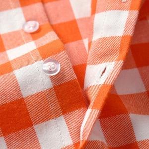 Image 4 - Pomarańczowy biały Plaid chłopiec formalne ubrania dziecko suknia ślubna z długim rękawem dla dzieci kostium dla dzieci chłopcy jesień garnitur dla niemowląt Kid odzież zestaw