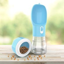 Bowl Feeder Dog-Water-Bottle Food-Feeding Cat for Puppy Outdoor Travel-Supplies Pet 2-In-1