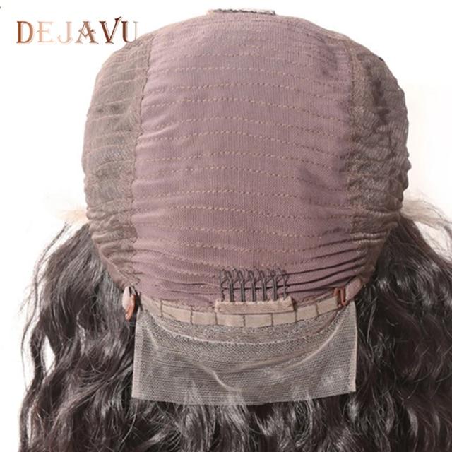 Dejavu brazylijski peruka body wave nie Remy włosy wstępnie oskubane koronkowa peruka na przód 130% 13x4 czołowa koronki ludzkich włosów peruka dla czarnych kobiet