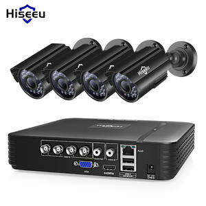 Hiseeu Cctv-Camera-System HDD Surveillance-System Outdoor Home-Video AHD Waterproof 4CH