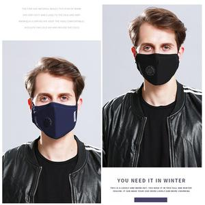 Image 3 - Unisex Anti haze Mouth Masks Anti PM2.5 Respirator Dustproof Cotton Mouth Face Mask with 2pcs Filters Valve Dust Safety Mask