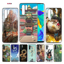 Totoro Spirited Away Ghibli TPU Soft Phone Case For Huawei P20 P30 P9 P10 Mate 10 20 30 Lite Pro P Smart Plus Z 2019 2017 Cover(China)