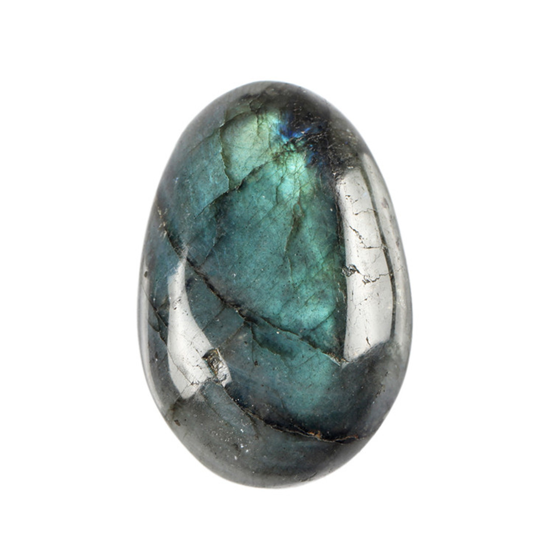 1pc Natural Labradorite Clear Crystal Blue Calcite Natural Gemstones Tumbled Stone Beads Reiki Point Chakra Healing Minerals