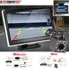 Koorinwoo CCD Drahtlose 5 zoll Bunte LCD Video Auto-Monitor Rückansicht Kamera Einparkhilfe Nachtsicht IR Parkplatz System